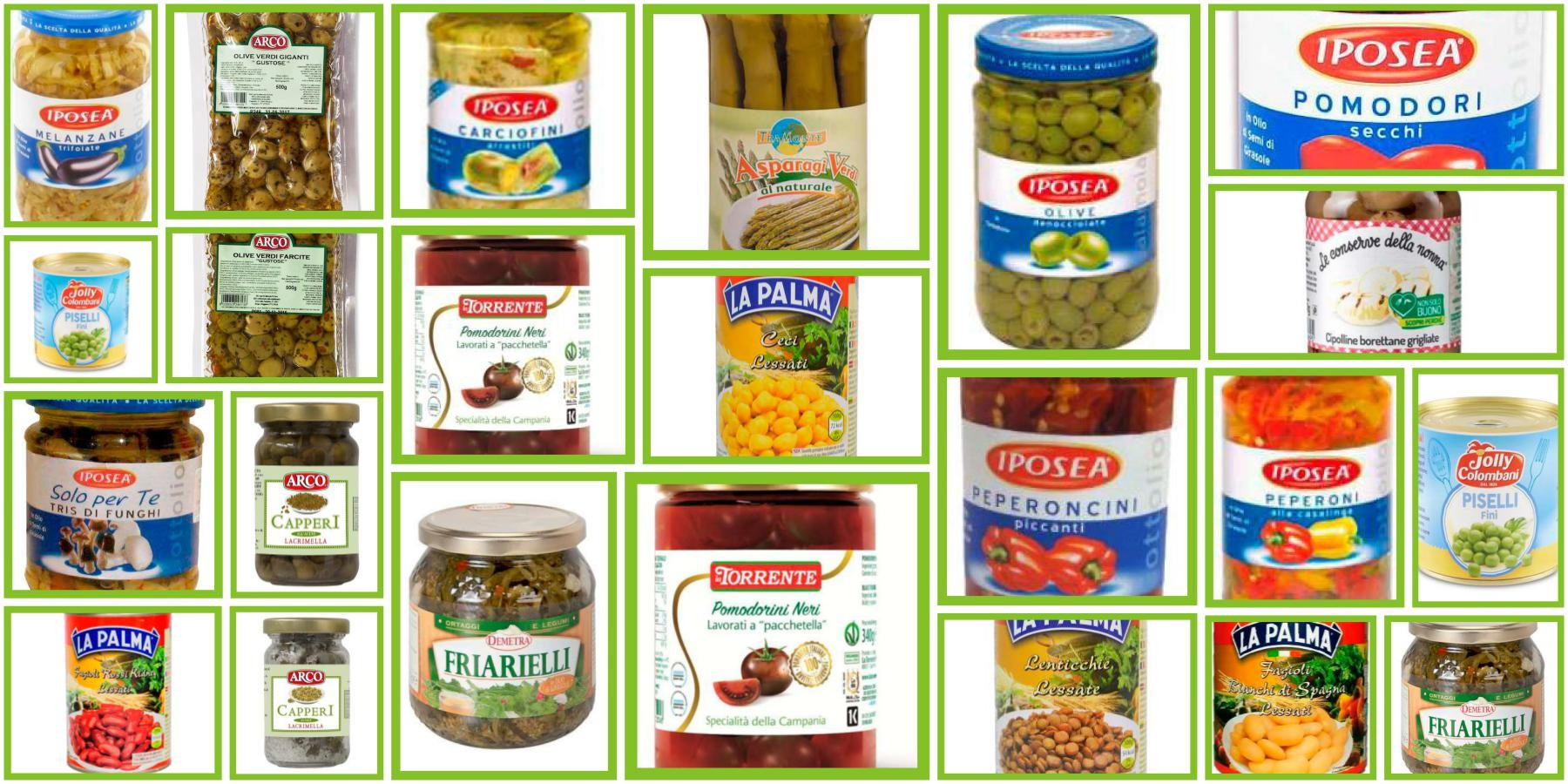 Vegetable Jars and Cans