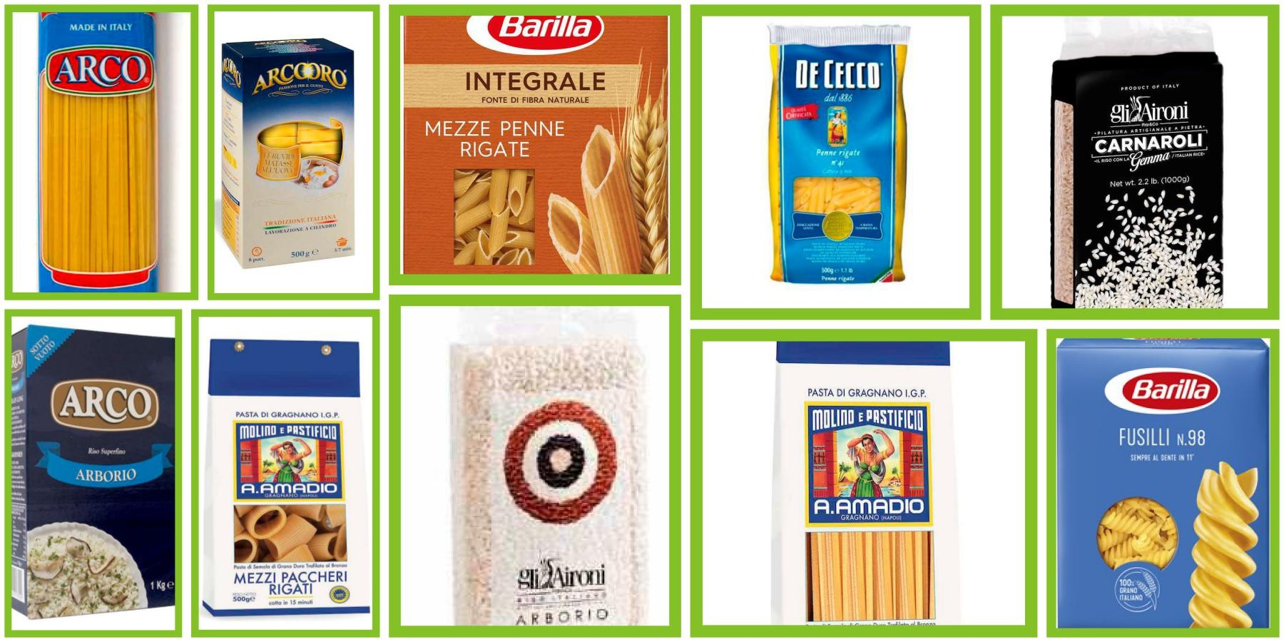 Our Pasta Selection
